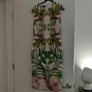 Ted Baker Pink Midi Dress